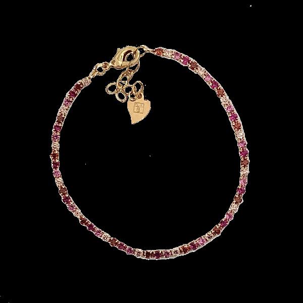 Bracelet vermeil et quartz roses