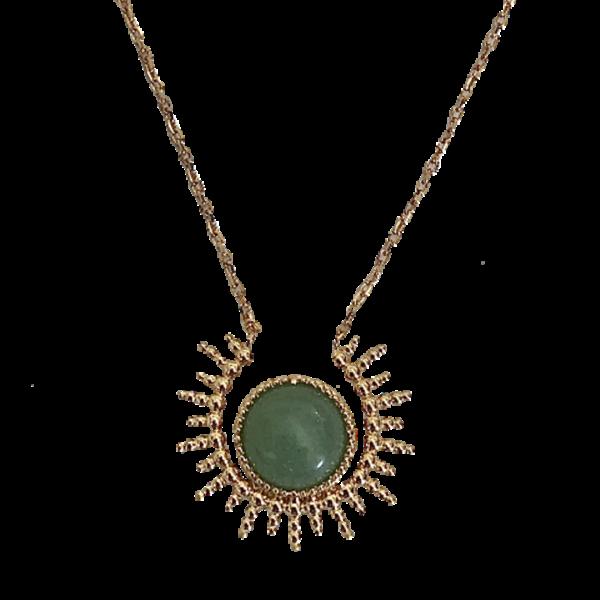 Collier en vermeil et jade