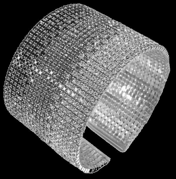 Large manchette cristaux Swarovski