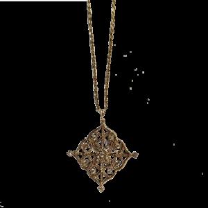 Pendentif filigrané vermeil et quartz