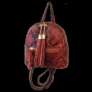 Mini sac cuir façon python