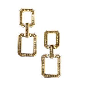 Boucles d'oreille cristaux baguette