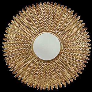 Miroir rond épis de blé