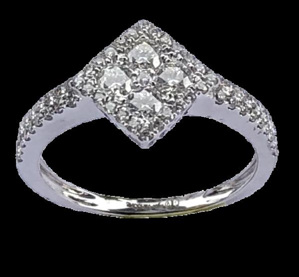 Bague Joaillerie losange diamants