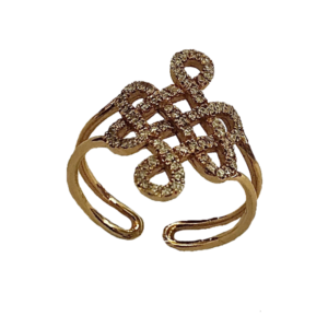 Bague volutes Joaillerie or et diamants