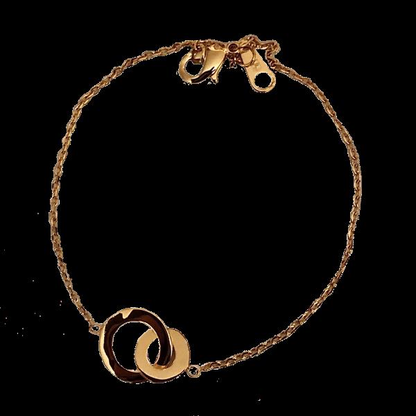 Bracelet 2 cercles vermeil