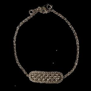 Bracelet argent ovale ciselé