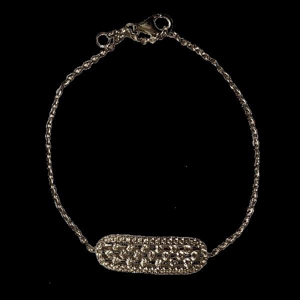 Bracelet argent ovale cislele