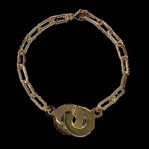 Bracelet menottes doré