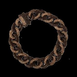 Bracelet maille gourmette bicolore