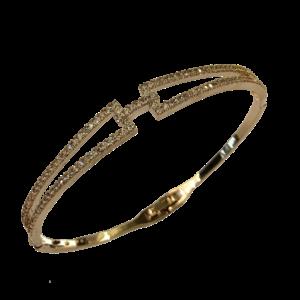 Bracelet semi rigide et quartz