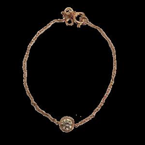 Bracelet vermeil et solitaire quartz