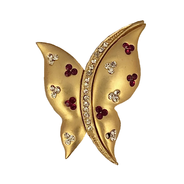 Broche papillon mate et
