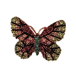 Mini broche papillon multicolore