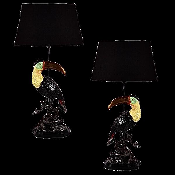 Paire de lampes Toucan