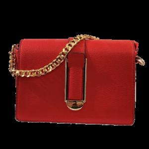 Petit sac rouge toile enduite
