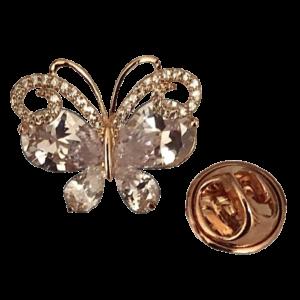 Pin's papillon cristal