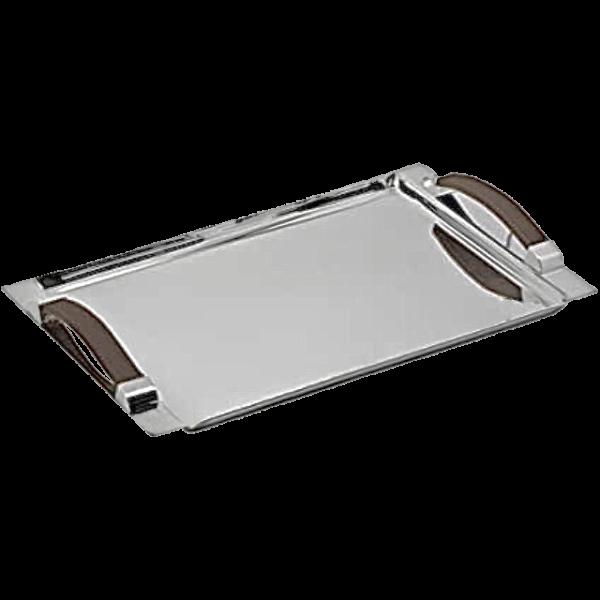 Plateau metal argente
