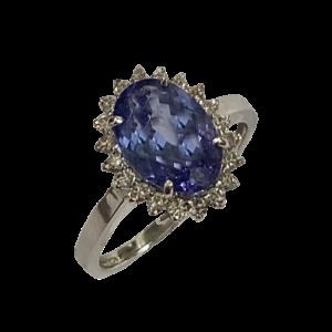 Bague Joaillerie tanzanite et diamants