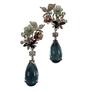 Boucles d'oreille London blue topaze