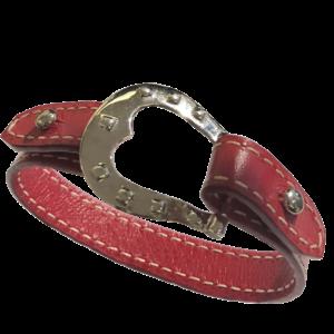 Bracelet cuir et boucle argent
