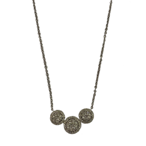 Collier Joaillerie 3 motifs diamants