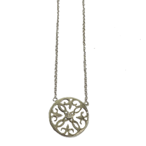 Collier argent arabesque ronde