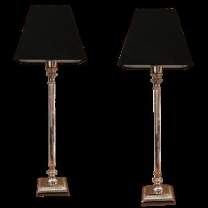 Paire de lampes colonne