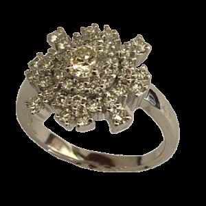 Bague diamants or blanc Nyala by Fauve