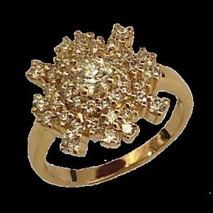 Bague diamants or jaune Nyala by Fauve
