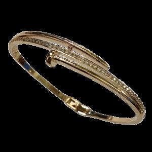 Bracelet Jonc clou doré
