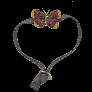 Bracelet papillon muticolore